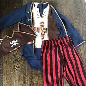 PB Kids Pirate Costume (never used)  Size 7/8